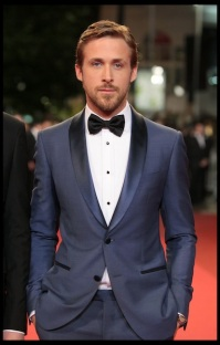 "Cannes 20 May 2011: Leading role actor Ryan Gosling wearing Montblanc studs and cufflinks at the ""Drive"" PremiÈre."
