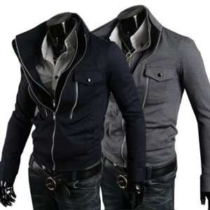New-coats-men-outwear-Mens-zipper-Jacket-Coat-men-clothes-style-jacket-Navy-Dark-gray-Free